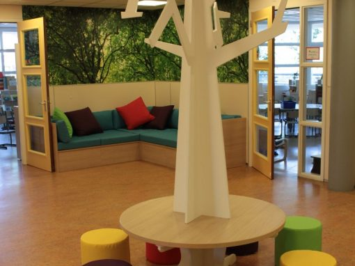 Een wensboomtafel op het leerplein