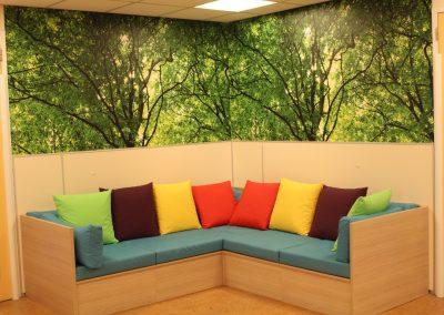 Kleurrijke loungebank